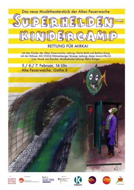 Plakat Superhelden Kindercamp 1